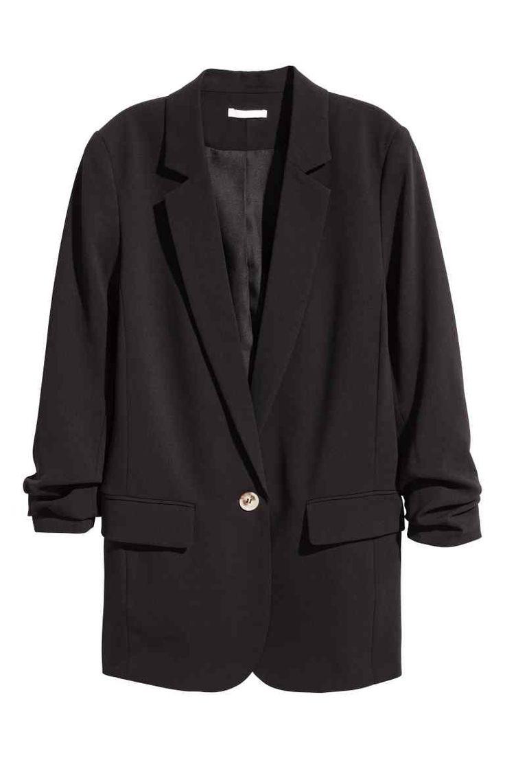 Lange blazer - Zwart - DAMES | H&M NL