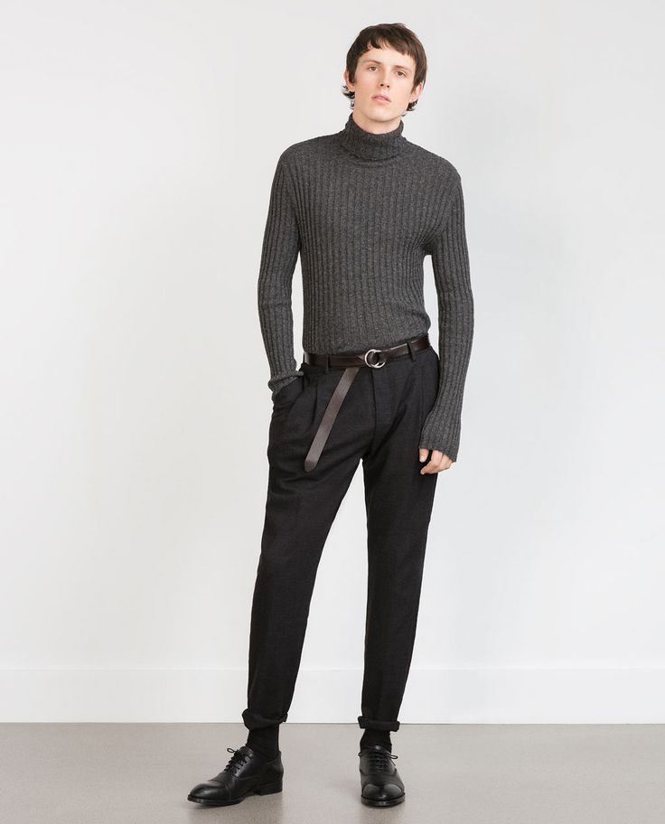 ZARA - MAN - STUDIO PLEATED TROUSERS