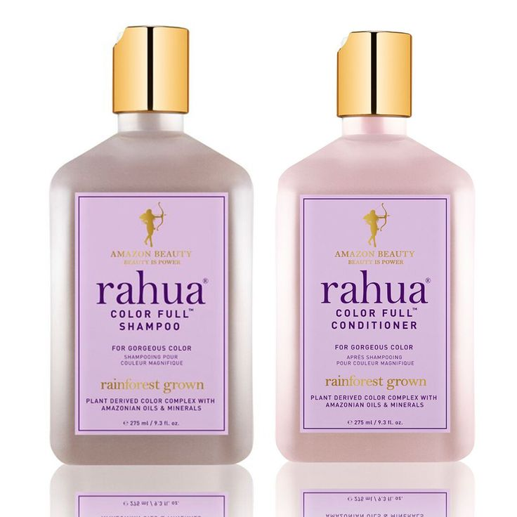 Rahua Color Full Shampoo and Conditioner is plant-derived—meaning even less damage plus extra vibrancy and softness thanks to rahua oil and Amazonian minerals.