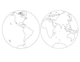 The Helpful Garden: Parts of the World Coloring Sheet ...