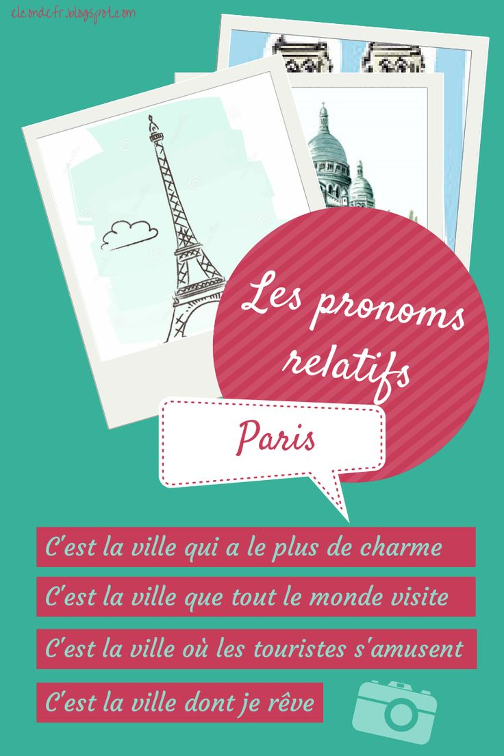 El Conde. fr: Les pronoms relatifs