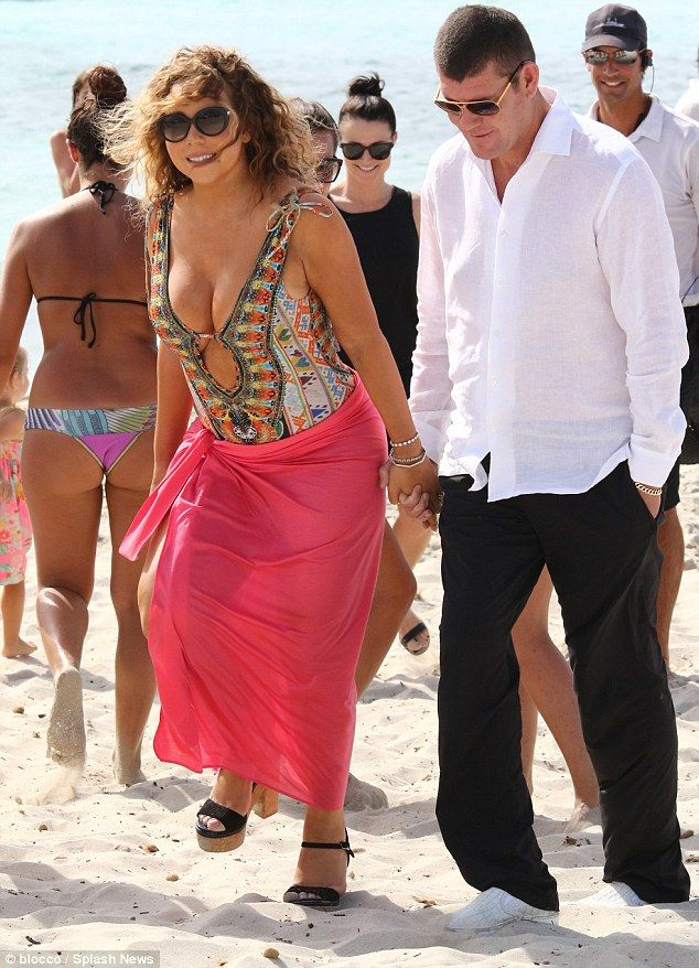 Diva coming through! Mariah Carey - pictured on Wednesday with her billionaire boyfriend James Packer in Spain - has admitted to diva antics in a new interview
