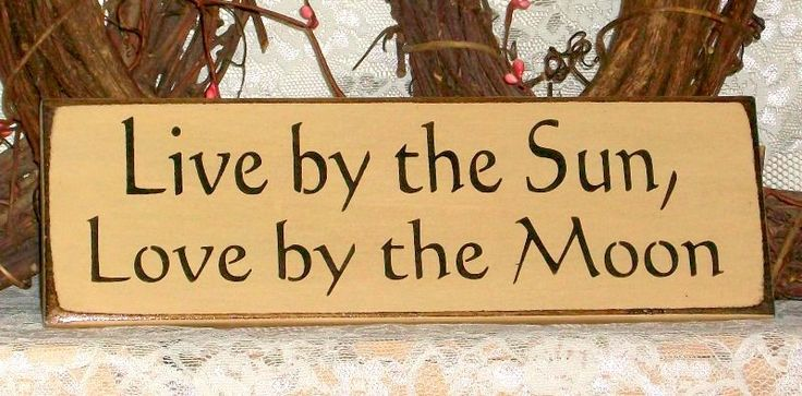 Live by the Sun, Love by the Moon - Primitive Country Painted Wall Sign, Beach House Decor, Summer Decor, Summer Sign, Ready to Ship by thecountrysignshop on Etsy