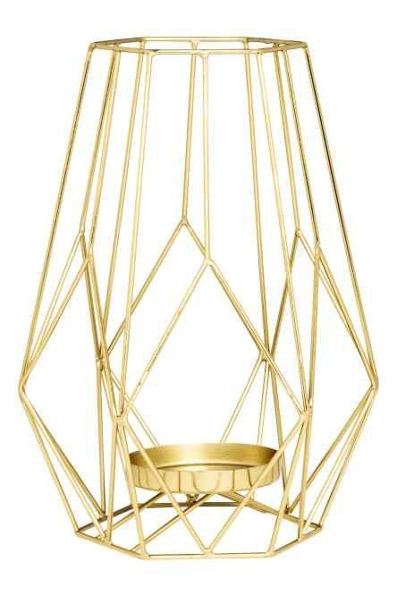 Large metal candlestick