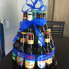Beer bottle cake - I like that it isn't as tall