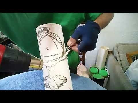 Cómo hacer lámparas de PVC en tercera dimensión. - YouTube