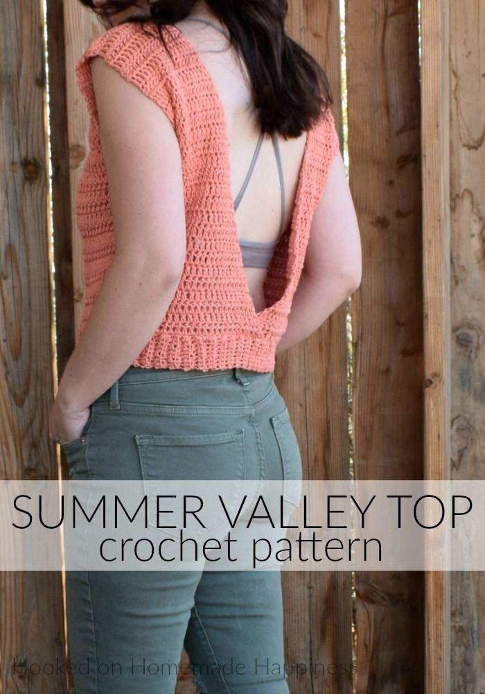Teste padrão superior do Crochet do vale do verão