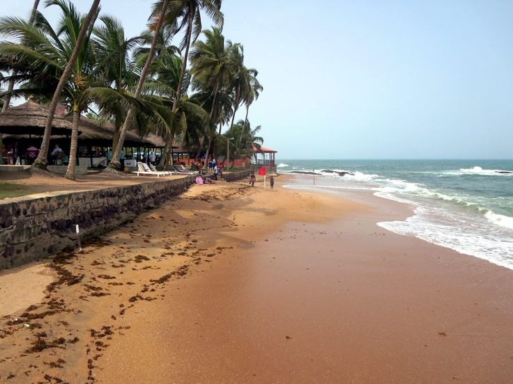 Coconut Grove Beach Resort near Elmina, Ghana, has a golden beach.