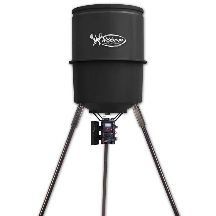 WGI Innovations W225D Tri-Pod Digital Feeder, 225-Lb. Poly Barrel, 30-Gals New #WildGameInnovations