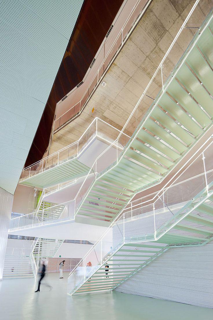 "El 'B"" by Selgascano; Carlagena, Spain. Translucent stairs are amazeballs."