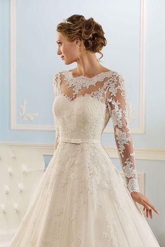 Vestidos de novia corte a con encaje