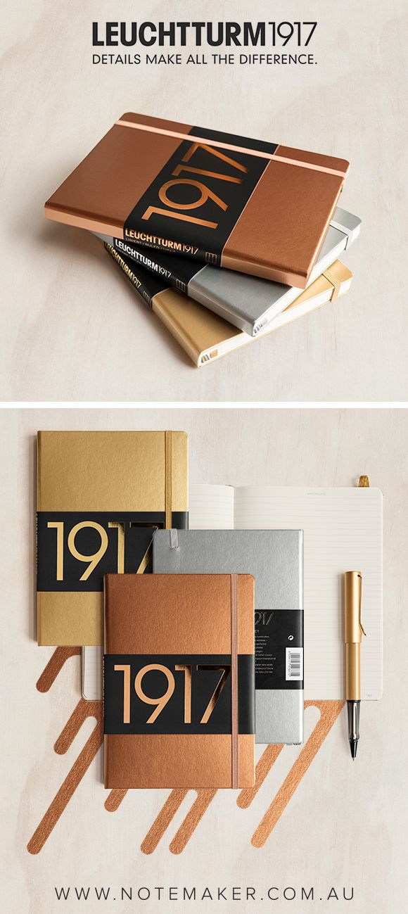To celebrate their 100th anniversary Leuchtturm1917 have created a limited edition collection of metallic notebooks and pen loops that make a perfect choice when choosing your next notebook or bullet journaling companion. Where details make all the difference.