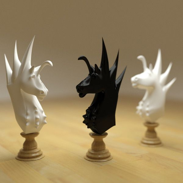3d model chess knight - Chess knight - horse... by Clayzenor