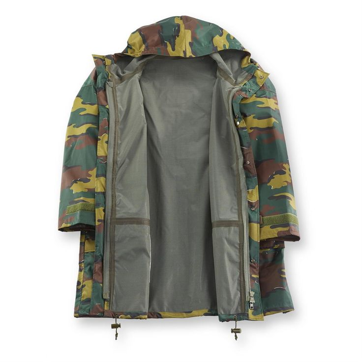 Belgian Military Issue Jigsaw Camo Jacket, Sympatex Waterproof, New