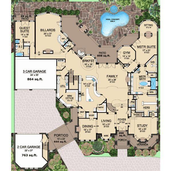 37 best Plans images on Pinterest Cottage floor plans, House - new blueprint for 3 car garage