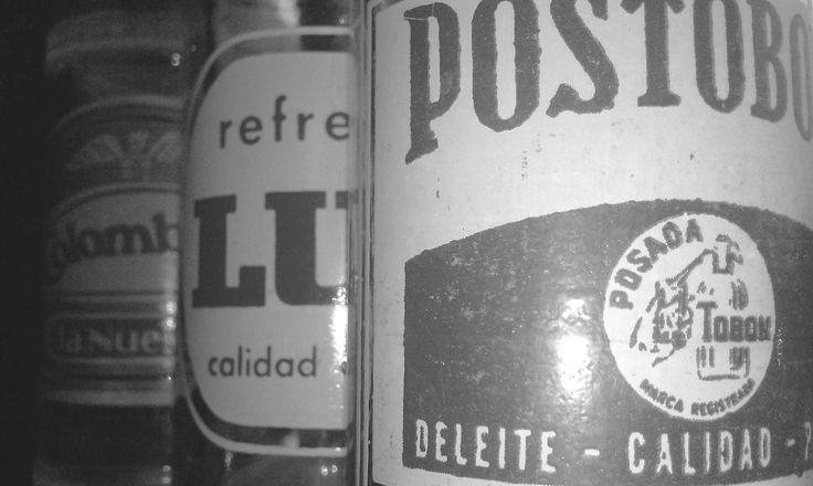 botellas clásicas, mas o menos de los 70's u 80's