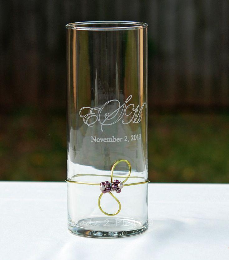 Wedding Unity Candle Vase PERSONALIZED Engraved by Beadz2Pleaz, $32.95