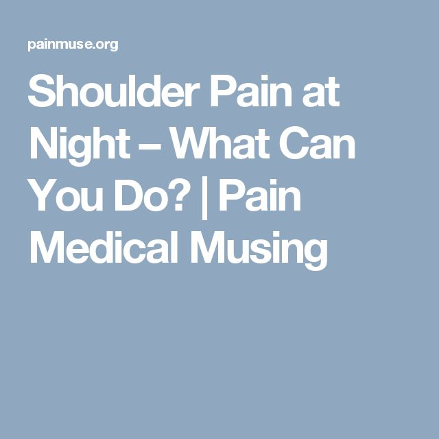 sore shoulder how to stop pain