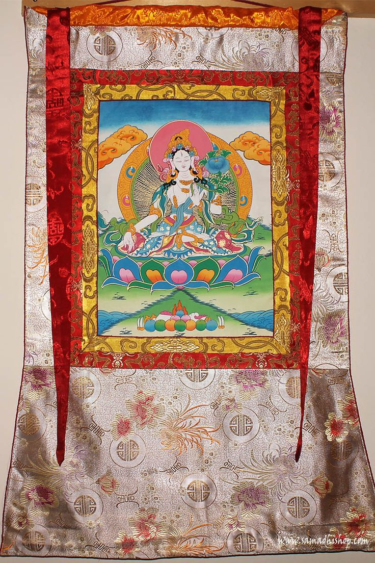Original Nepalese Buddhist White Tara thangka