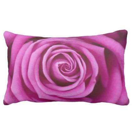 Pink Petals Lumbar Pillow - home gifts ideas decor special unique custom individual customized individualized