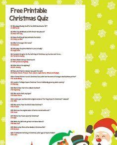Free Christmas Quiz