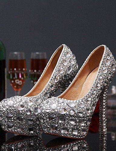 ShangYi Scarpe da sposa - Scarpe col tacco - Tacchi - Matrimonio / Serata e festa - Rosso / Bianco - Da donna , 5in & over-white