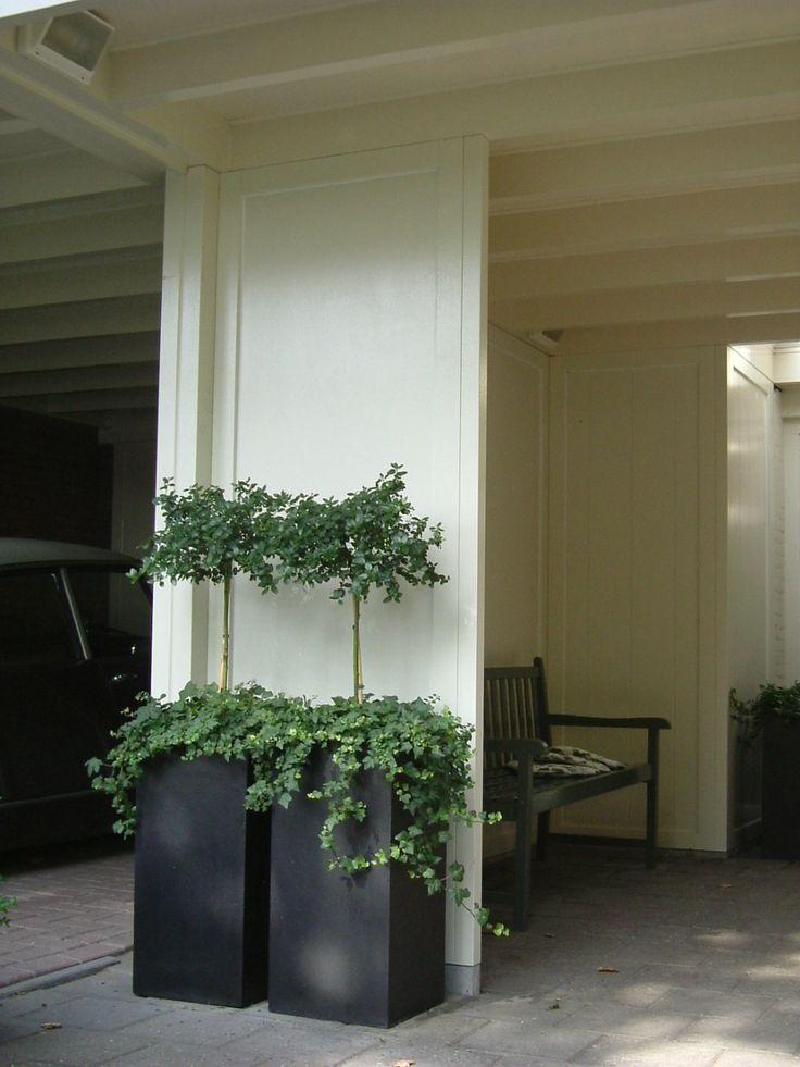 gebouwd carport met scheidingswand
