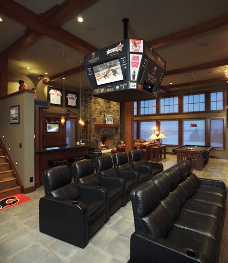 Home theater designs furniture and decorating ideas http for Cool basement furniture