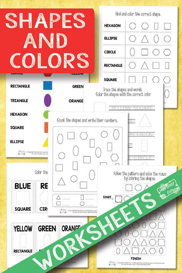 Lovely Shapes and Colors Worksheets