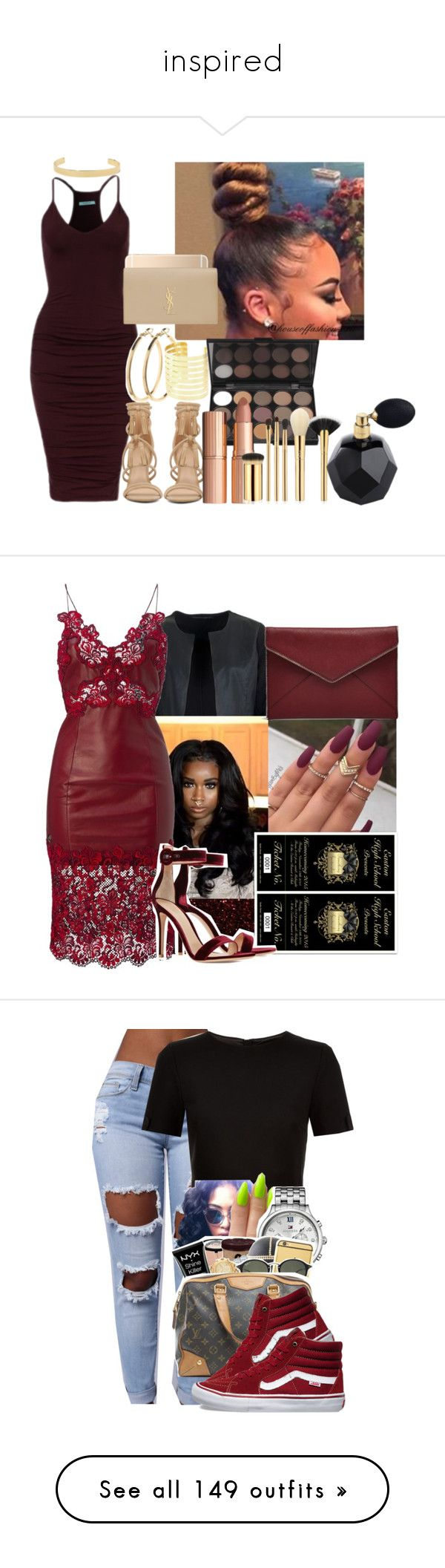 """""""inspired"""" by deonnnni-stewarrrrt ❤ liked on Polyvore featuring ALDO, Jennifer Fisher, Pieces, Yves Saint Laurent, Charlotte Tilbury, tarte, Gianvito Rossi, Rebecca Minkoff, Ted Baker and Tommy Hilfiger"""