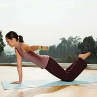 Great core work as well as upper body strength!