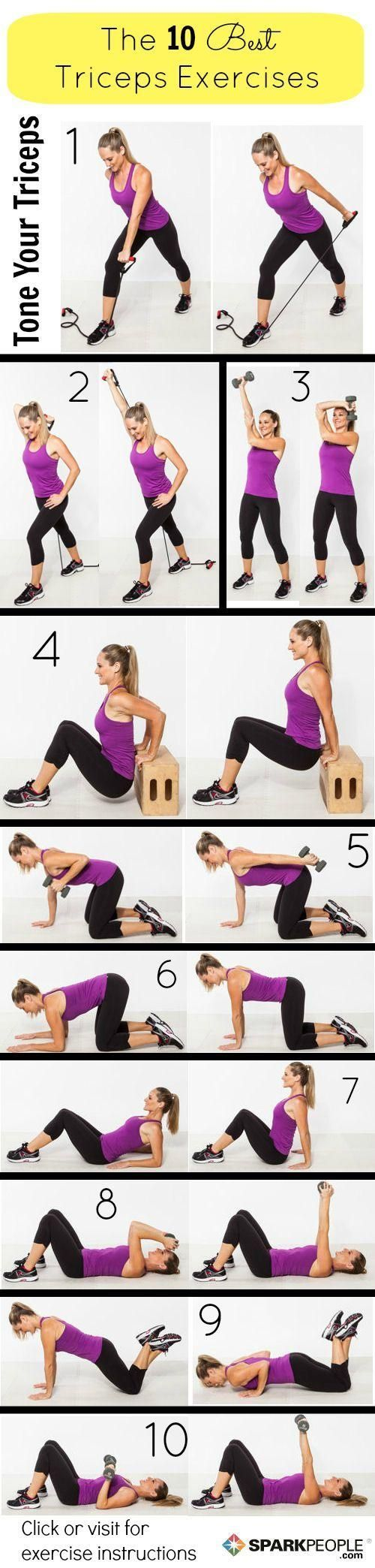 Variety of exercises for toning arms. Love these! ------ :) Bev