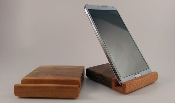Samsung Galaxy S4 / S5 / Note Stand / Dock (all ) -Walnut / Cherry ( 2 pack )