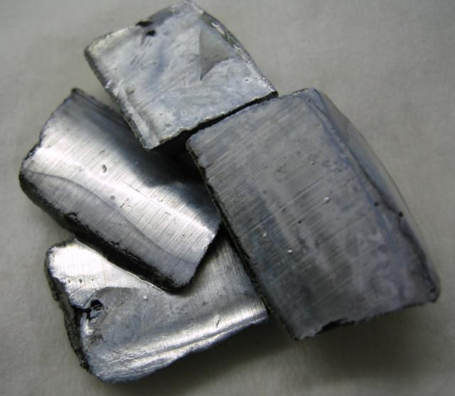10 Fun Facts About Potassium: These are chunks of potassium metal. Potassium is a soft, silvery-white metal that quickly oxidizes.