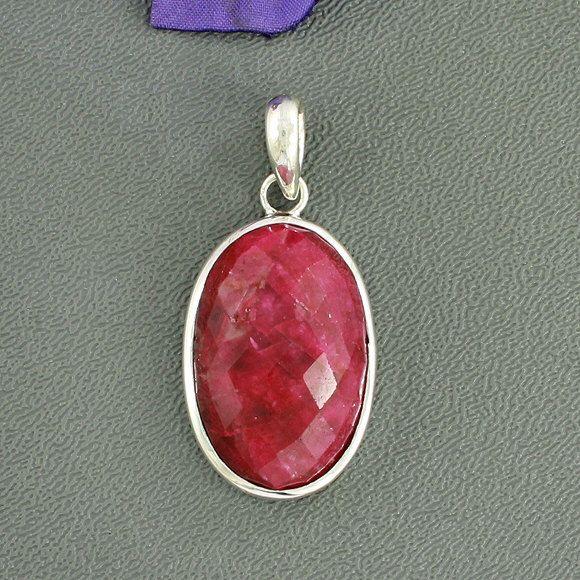 Ruby Pendant - Red Pendant - Bezel Set Pendant - Gemstone Pendant - July Birthstone Pendant Jewelry- Gift For Her, Faceted Ruby, P/23/116 by Silvergem2014 on Etsy https://www.etsy.com/listing/239869658/ruby-pendant-red-pendant-bezel-set