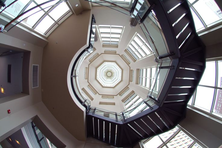 Greater Richmond Convention Center Spiral Staircase.