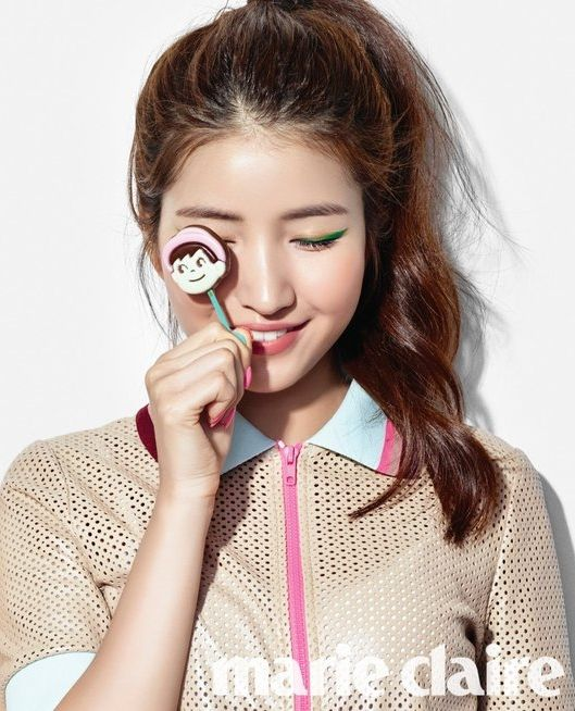 GFRIEND - SoWon #소원 (Kim SoJung #김소정) in photoshoot for Marie Claire Korea, March 2016 마리끌레르 #화보