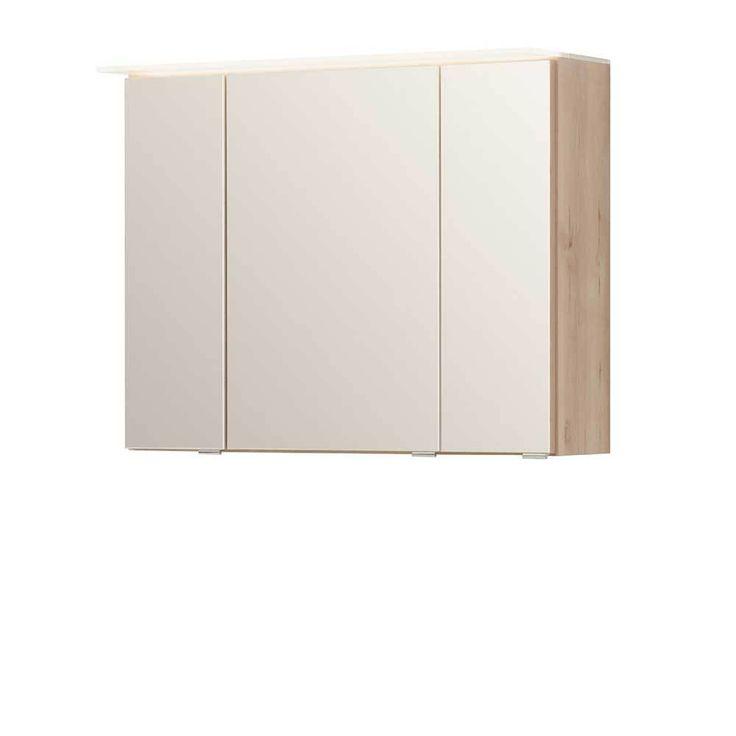 3D Bad Spiegelschrank in Buche hell 80 cm breit Jetzt bestellen unter: https://moebel.ladendirekt.de/bad/badmoebel/badezimmerschraenke/?uid=b3916393-aed9-58f6-91a3-3e016ecf53b4&utm_source=pinterest&utm_medium=pin&utm_campaign=boards #badezimmerkommode #bad #beistellschrank #spiegelschrank #badschrank #badmoebel #badspiegelschrank #spiegel #badeschrank #lichtspiegelschrank #badezimmerschraenke #badezimmerspiegelschrank #badezimmer