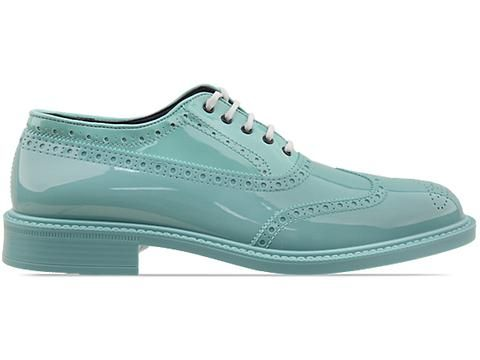 Vivienne Westwood Anglomania Brogue Plastic in Green at Solestruck.com