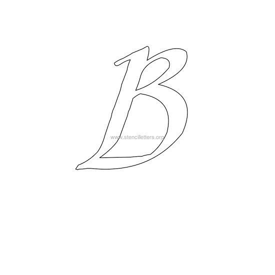 Uppercase Calligraphy Wall Stencil Letter B Letter