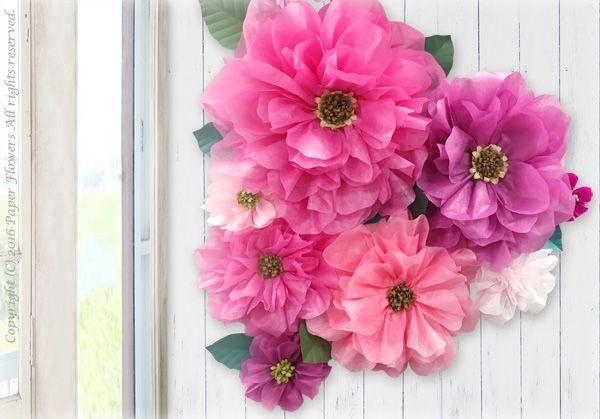 前田京子のペーパーフラワー(紙の花/ペーパーアート)不織布フラワーやお花紙フラワー