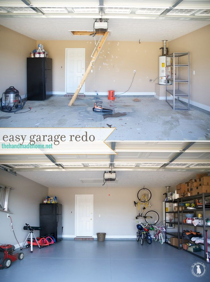 how to refinish your garage floor {the spray paint grenade} - the handmade home