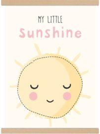 Lieve A3 poster 'my little sunshine' zonnetje - tante kaartje - www.tante-kaartje.nl