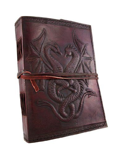 Embossed Leather Dual Dragons 120 Leaf Journal by Things2... https://www.amazon.com/dp/B007L4DSUM/ref=cm_sw_r_pi_dp_U_x_JZ1iAbTVPFP6G