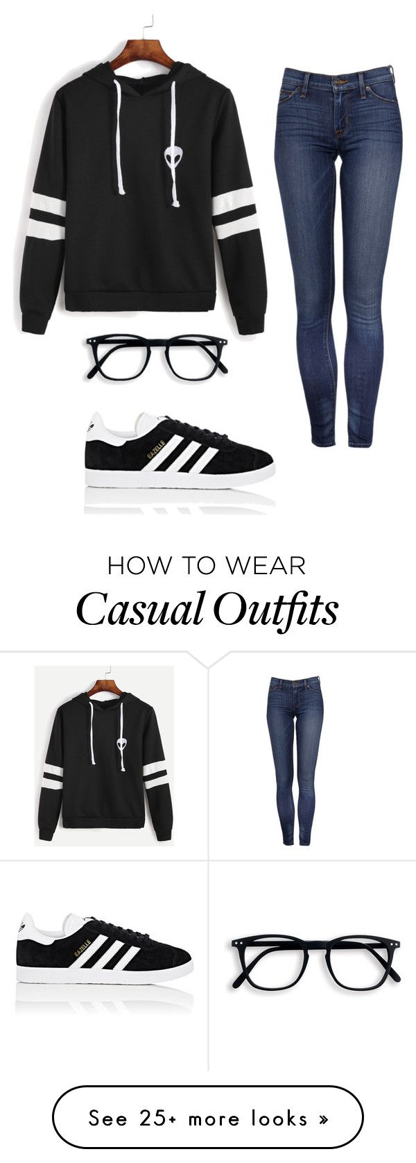 """Casual"" by rodriguezgeny99 on Polyvore featuring adidas"
