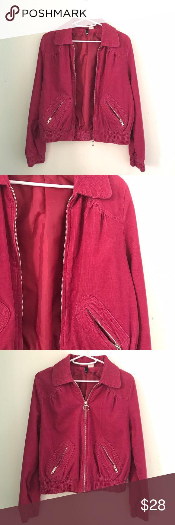 H&M corduroy bomber jacket NWOT Bomber jacket, Clothes