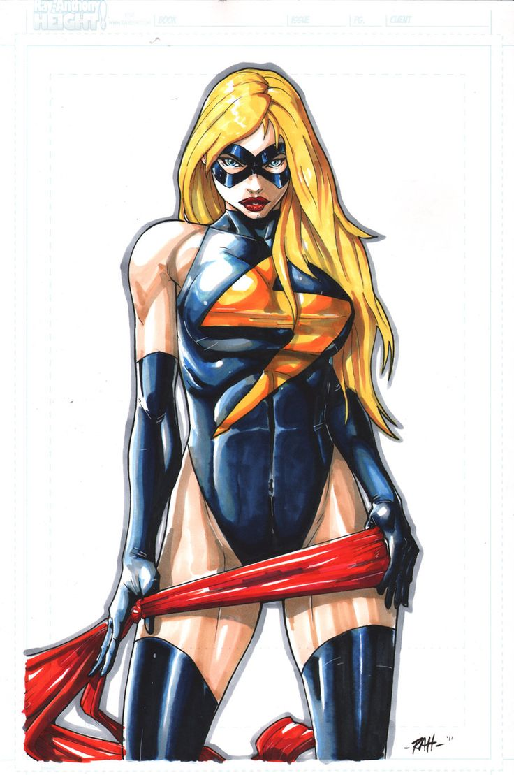 Ms. Marvel artwork by Raheight.