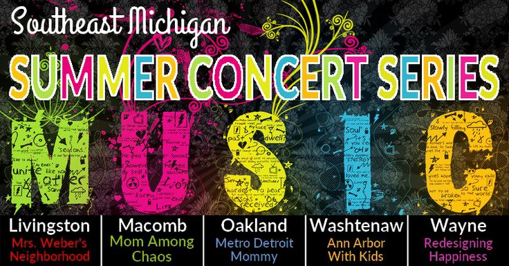 Southeast Michigan Summer Concert Series...Check out this list of FREE local concerts compiled by four Southeast Michigan Bloggers.