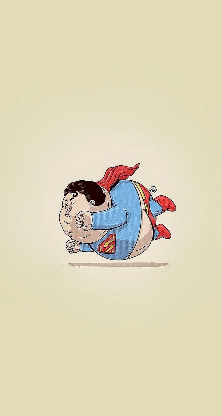 Fat Superman #superheroes iPhone wallpaper - @mobile9