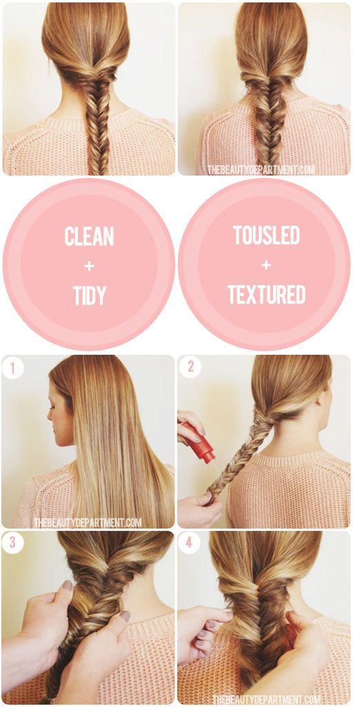 Weekend Hair Idea: How to properly tousle + texturize a braid using texture powder.